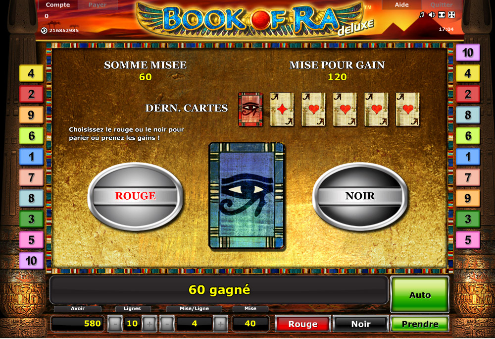 jeu de book of ra