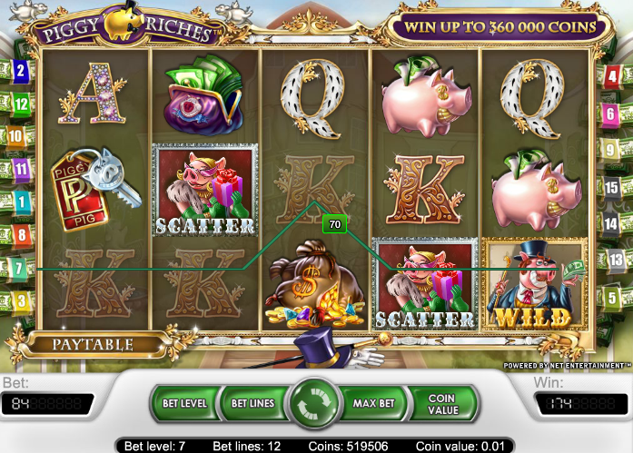 Gain Wild Scatter Piggy Riches