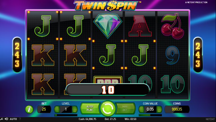 Gain Video Slot Twin Spin